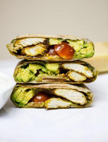 Burrito zkurczakiem iawokado