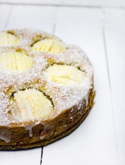Kokosowe ciasto z jabłkami