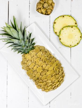"""Sałatka """"Ananas"""" zkurczakiem"""